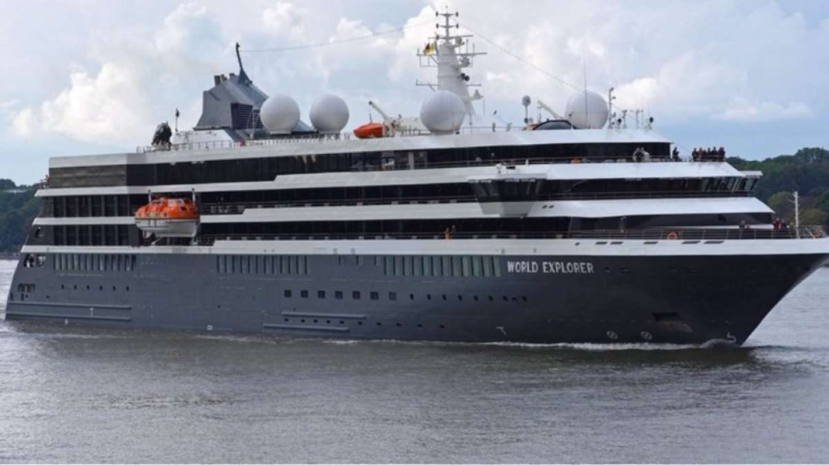 κρουαζιερόπλοιο ms world explorer κοντινό