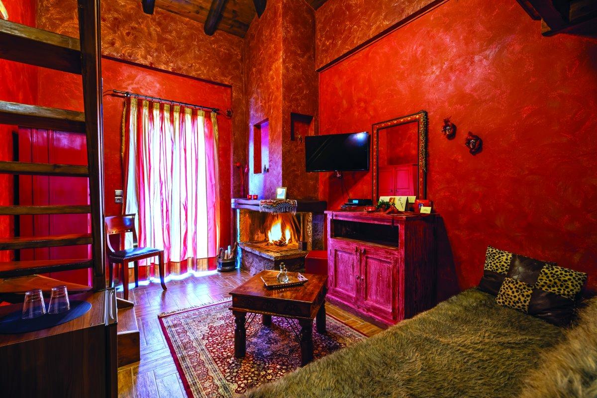 Cozy δωμάτιο του ξενώνα Οντά στην Αράχωβα