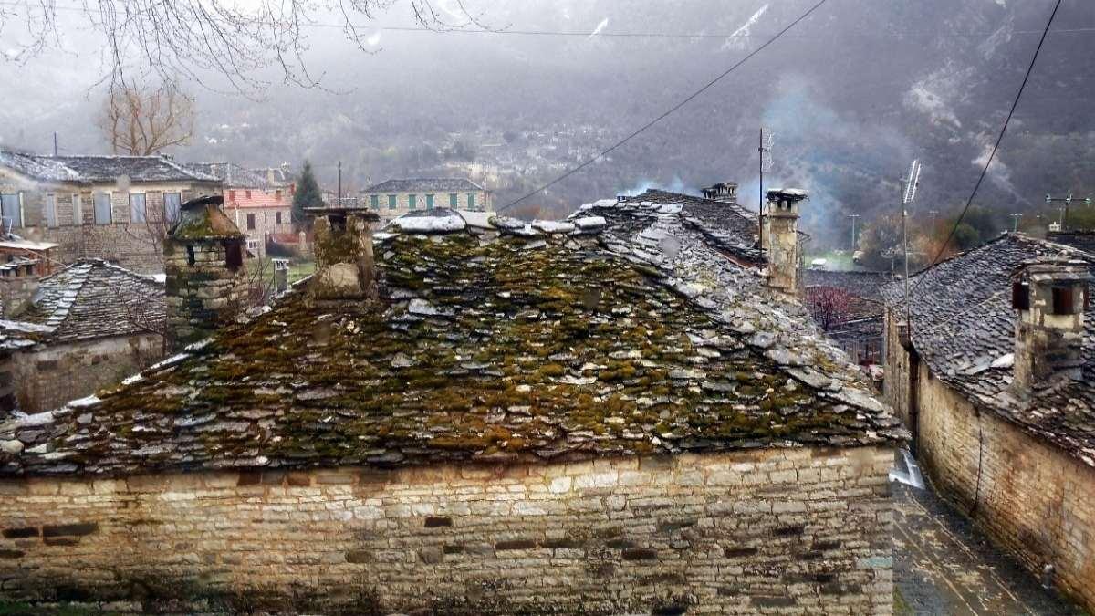 Πάπιγκο ομίχλη σπίτια
