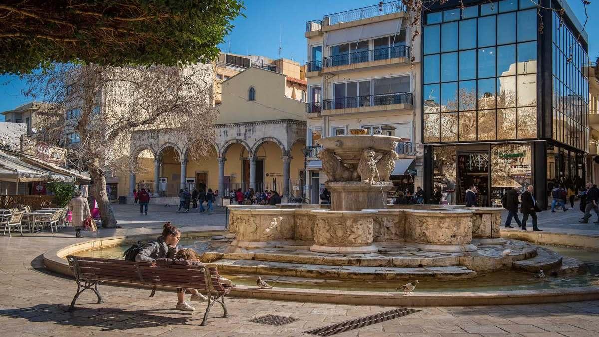 κεντρική πλατεία Ηράκλειο Κρήτης