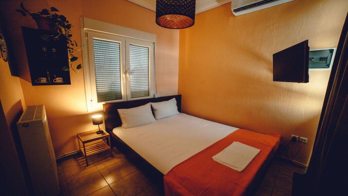 σπίτι Rooftop Θεσσαλονίκη κρεβάτι
