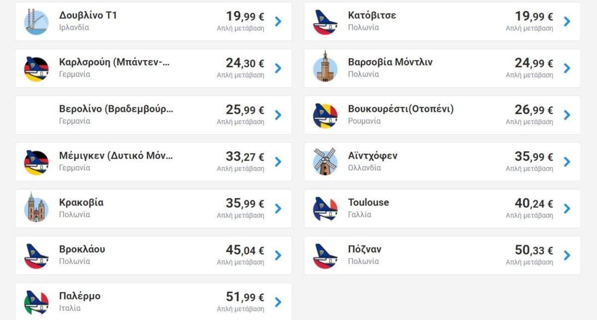 Ryanair: Φθινοπωρινά ταξίδια από €14,99!