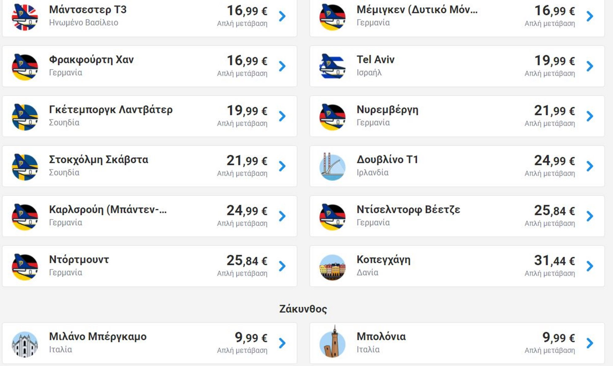 Ryanair: Κάντε κράτηση μέχρι 09/09 και ταξιδέψτε στο εξωτερικό από €9,99!
