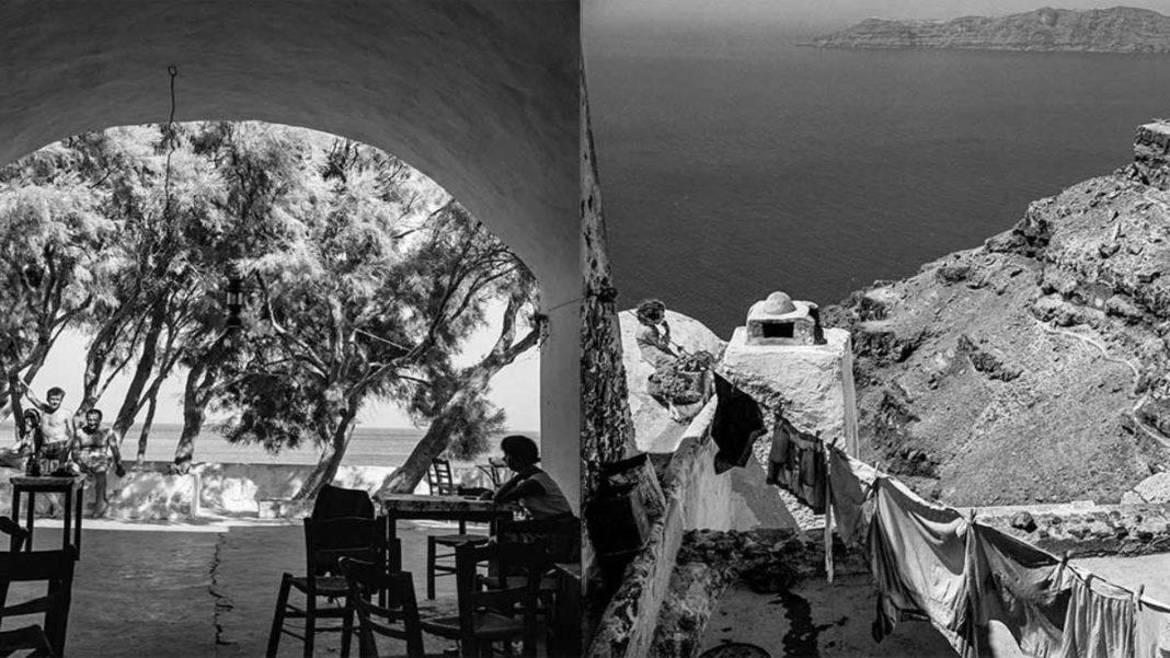 σαντορίνη 1950 καφενείο και μπουγάδα