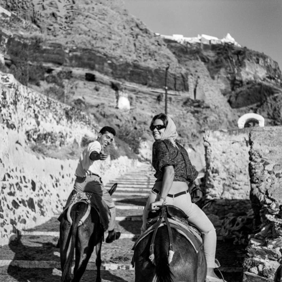 σαντορίνη 1950 μεταφορά με μουλάρια