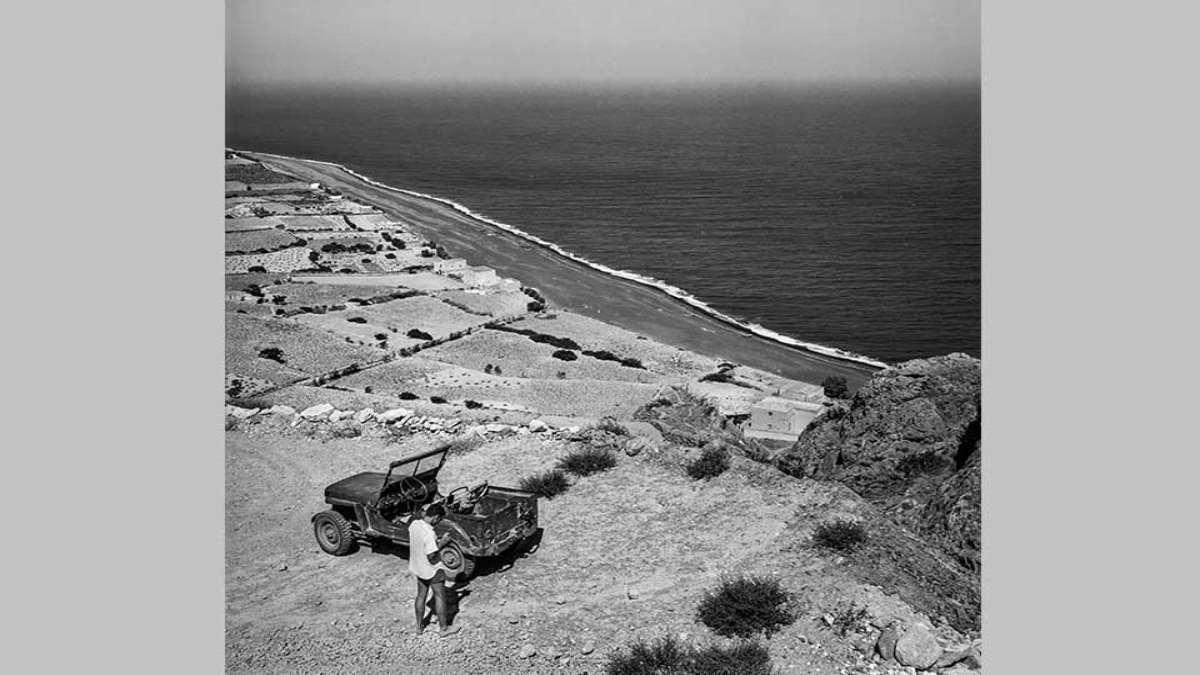 σαντορίνη 1950 το μοναδικό τζιπ στο νησί