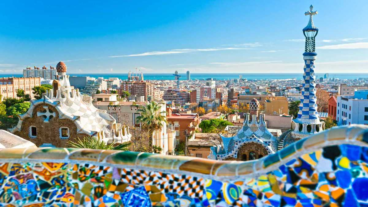 βαρκελώνη Ισπανία πανοραμική πόλης