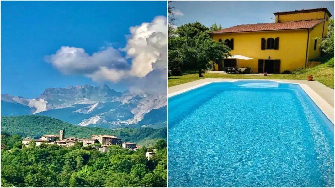 εξοχικό σπίτι με πισίνα Τοσκάνη Ιταλία