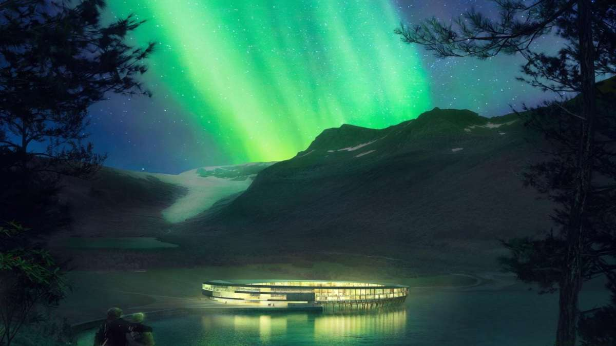 svart ξενοδοχείο νορβηγία κυκλικό βόρειο σέλας