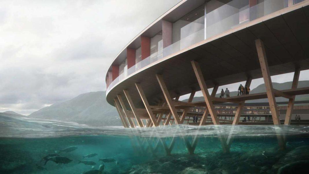 svart ξενοδοχείο Νορβηγία κυκλικό πάνω σε παγετώνα