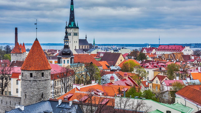 ταλίν Εσθονία πολύχρωμα σπίτια