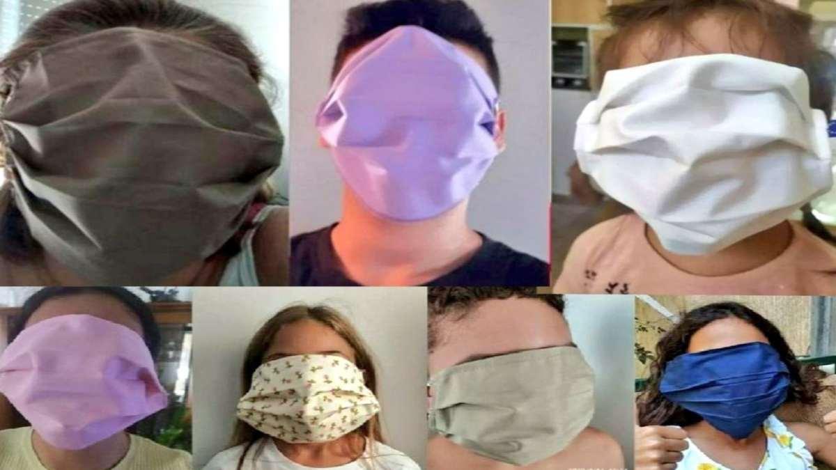 τεράστιες μάσκες μαθητές