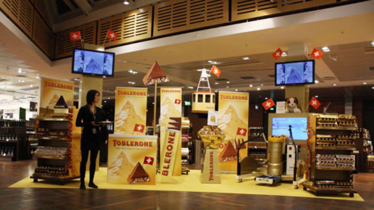 Σταντ της Toblerone σε αεροδρόμιο