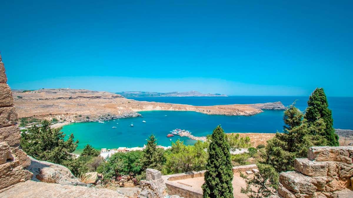 καλοκαίρι Ρόδος Ελλάδα δημοφιλής προορισμός