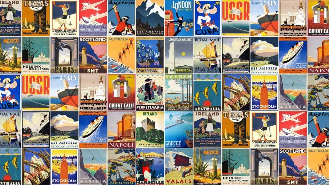 vintage αφίσες ταξίδια