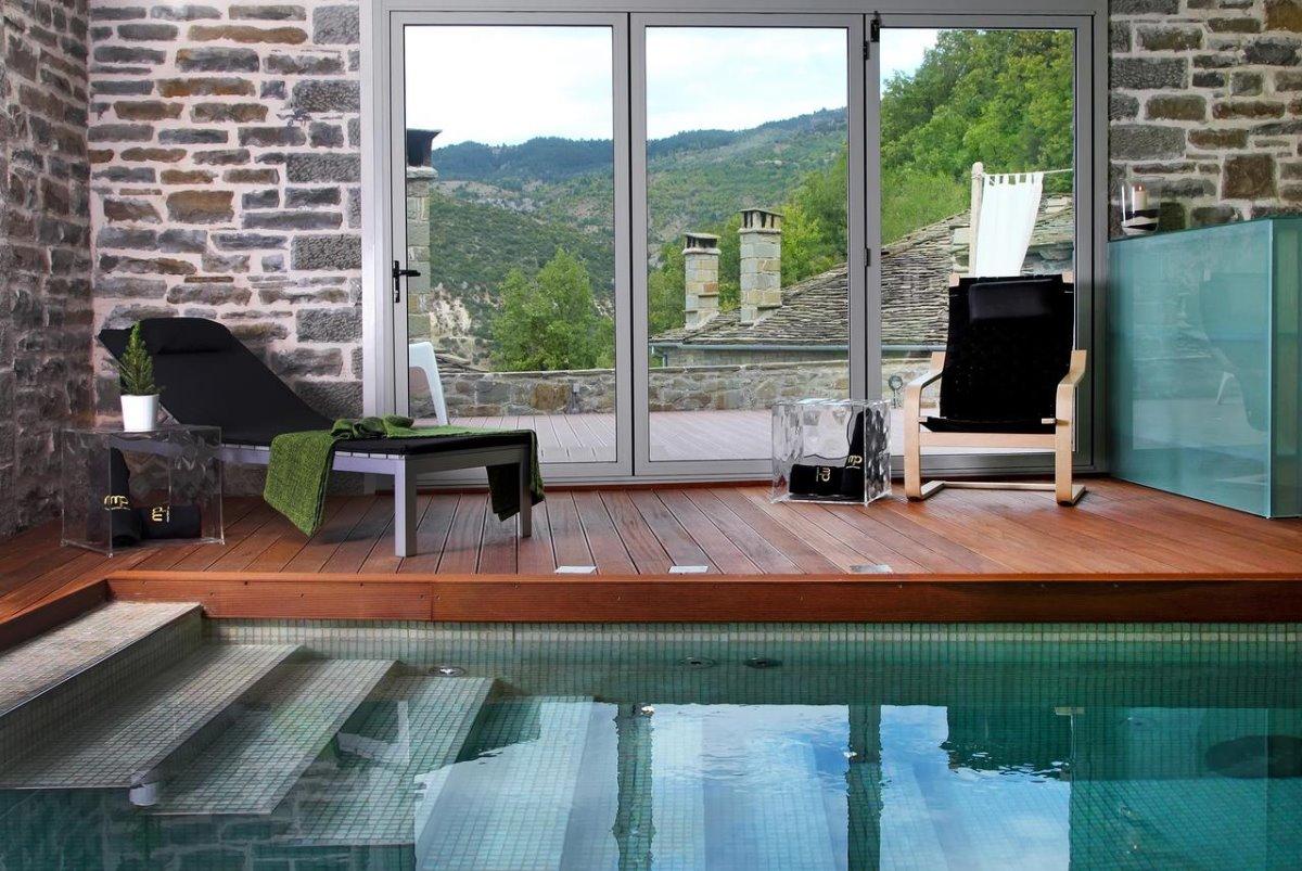 Μικρό Πάπιγκο πράσινο ξενοδοχείο πισίνα εσωτερική