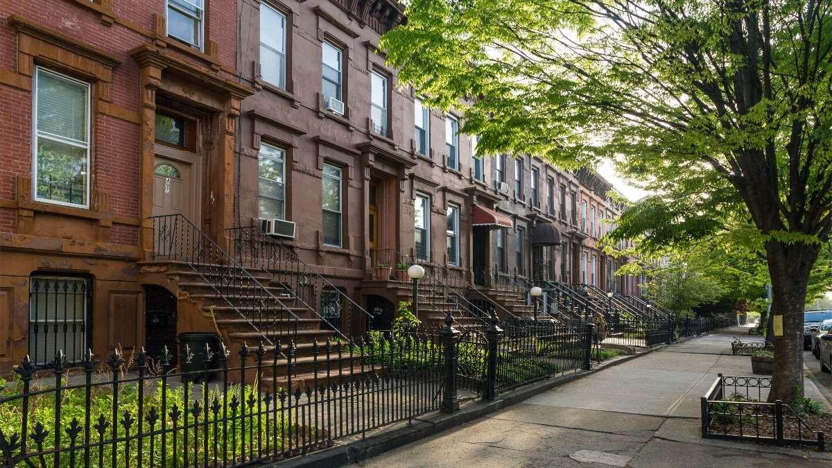 Bedford-Stuyvesant, Νέα Υόρκη κοντιονό σπίτια όμορφες γειτονιές
