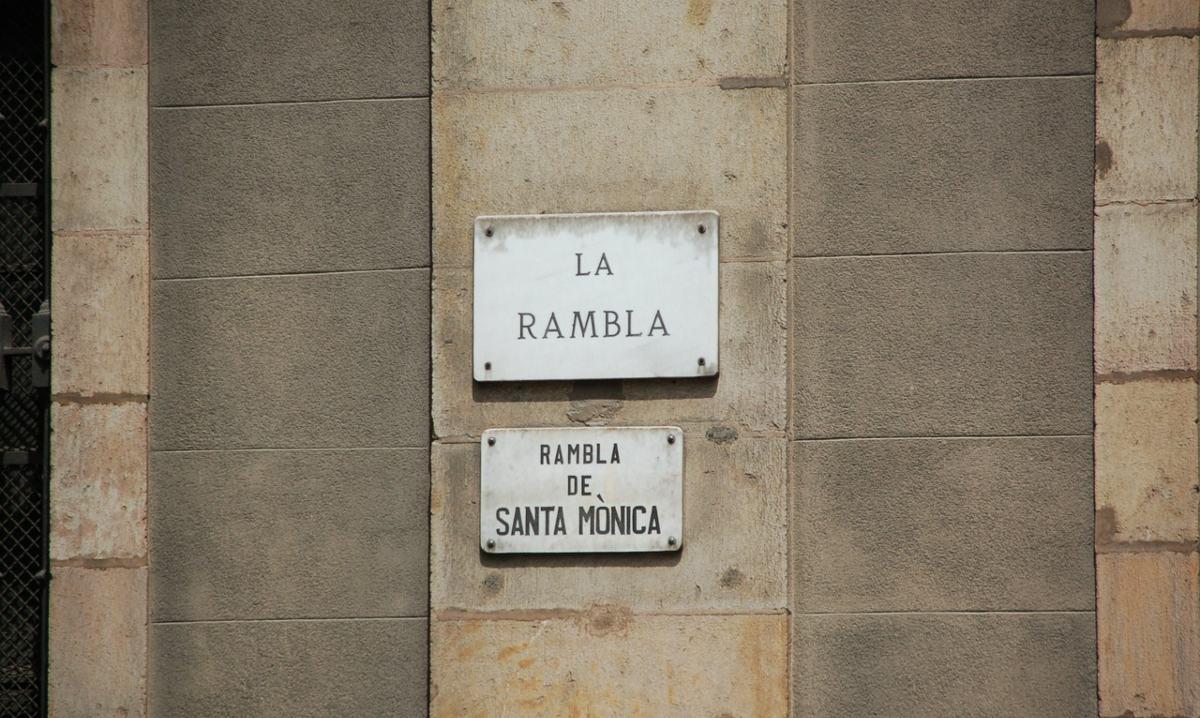 La Rambla, πινακίδα