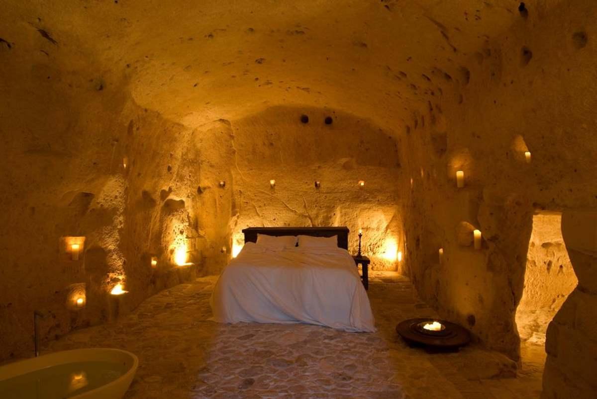 Le Grotte Della Civita κρεβάτι