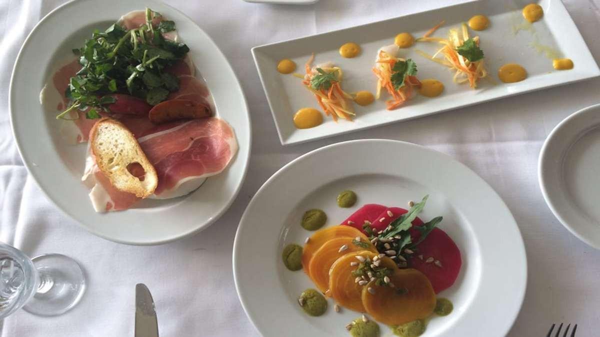 Loeb Boathouse φαγητό σε τραπέζι