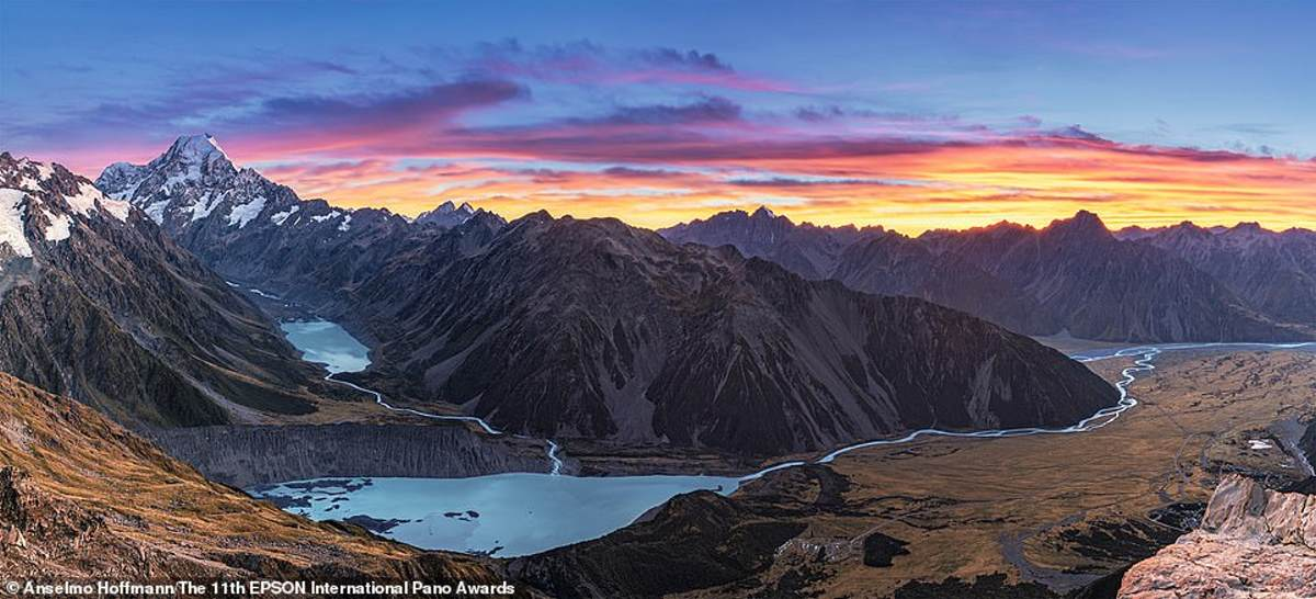 """Η """"δόξα"""" του Mount Cook  στη Νέα Ζηλανδία καταγράφηκε από τον Βραζιλιάνο ερασιτέχνη φωτογράφο Anselmo Hoffmann"""