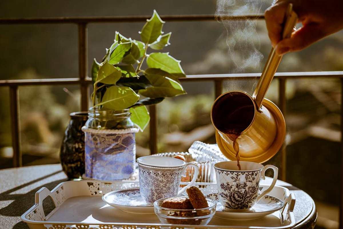Καφές στο Rodia Boutique Hotel, Κήποι, Ζαγόρι