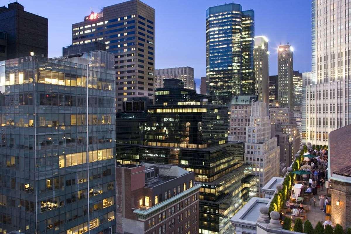 Η θέα στη Νέα Υόρκη από το  Roosevelt Hotel