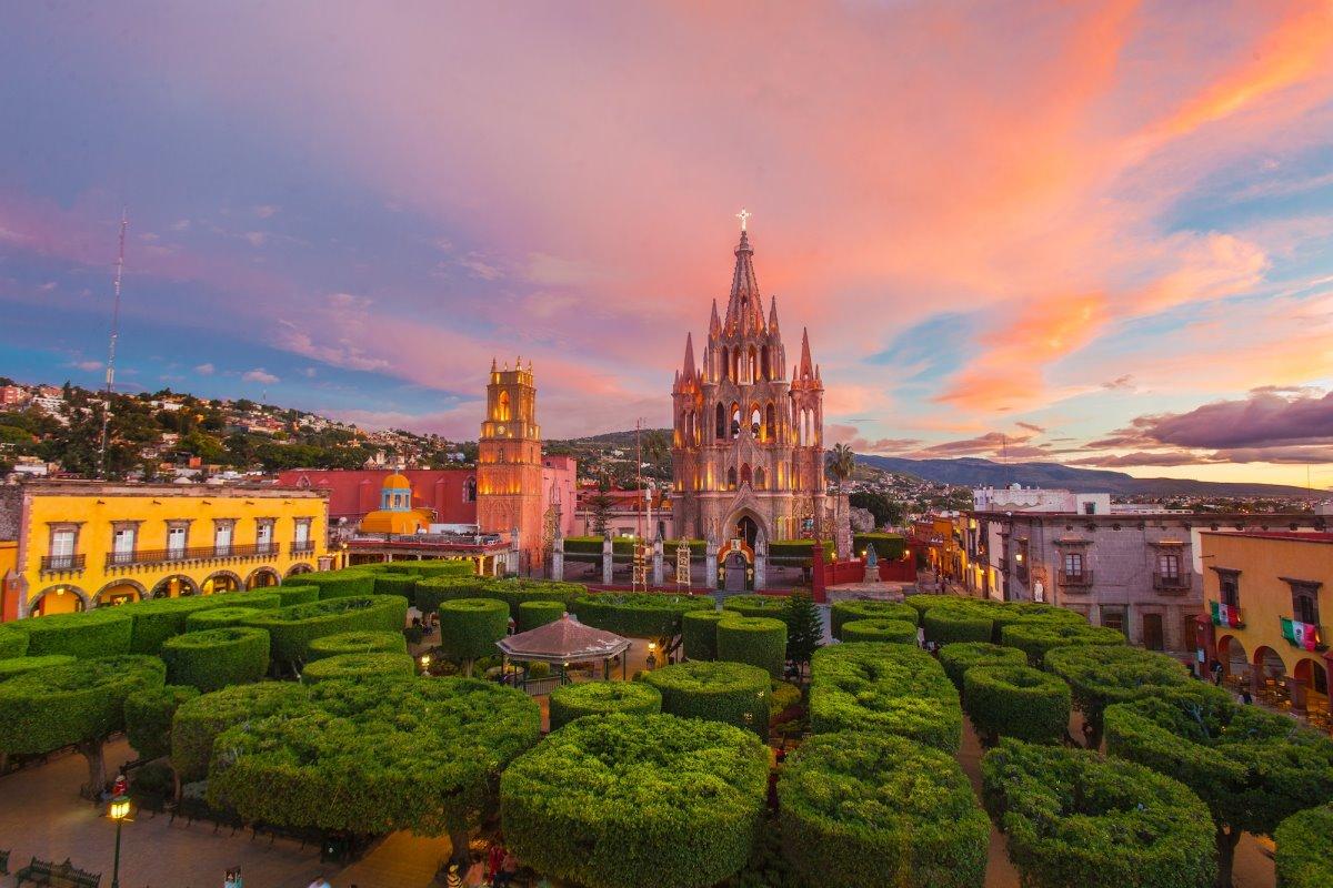 Σαν Μιγκέλ Αγιέντε Μεξικό ηλιοβασίλεμα