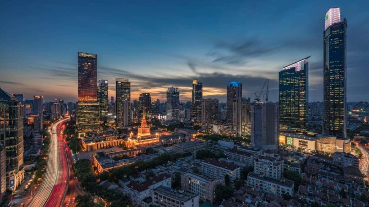 Shaanxi Bei Lu / Kangding Lu, Σανγκάη όμορφες γειτονιές νύχτα πανοραμική