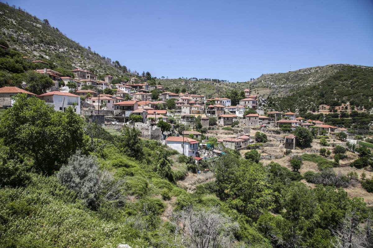 Πανοραμική άποψη του χωριού, Αγριανοί Λακωνίας