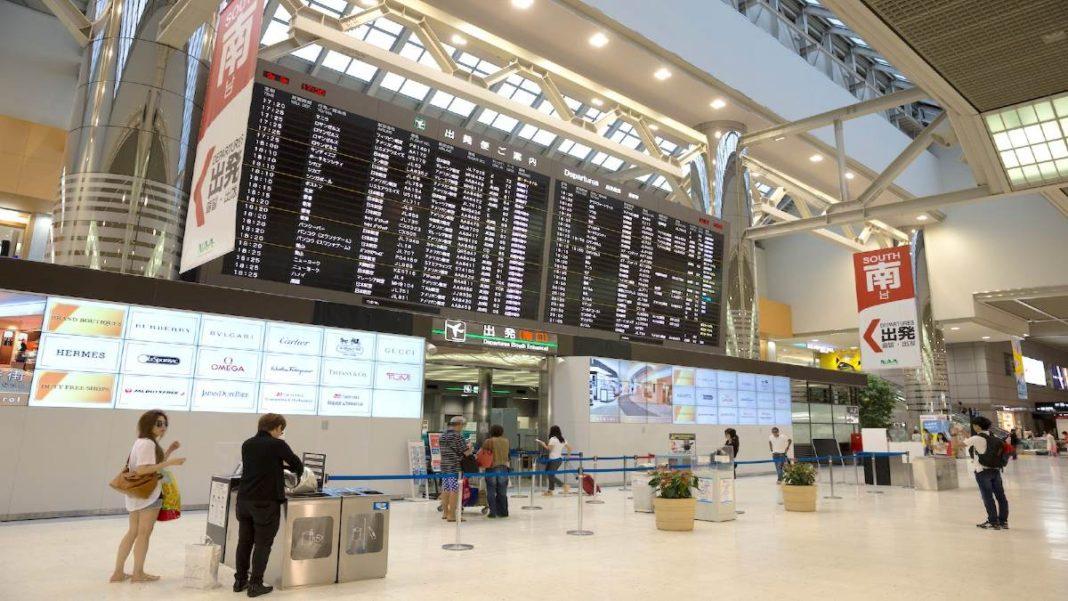 αεροδρόμιο Narita Ιαπωνία επιβάτες