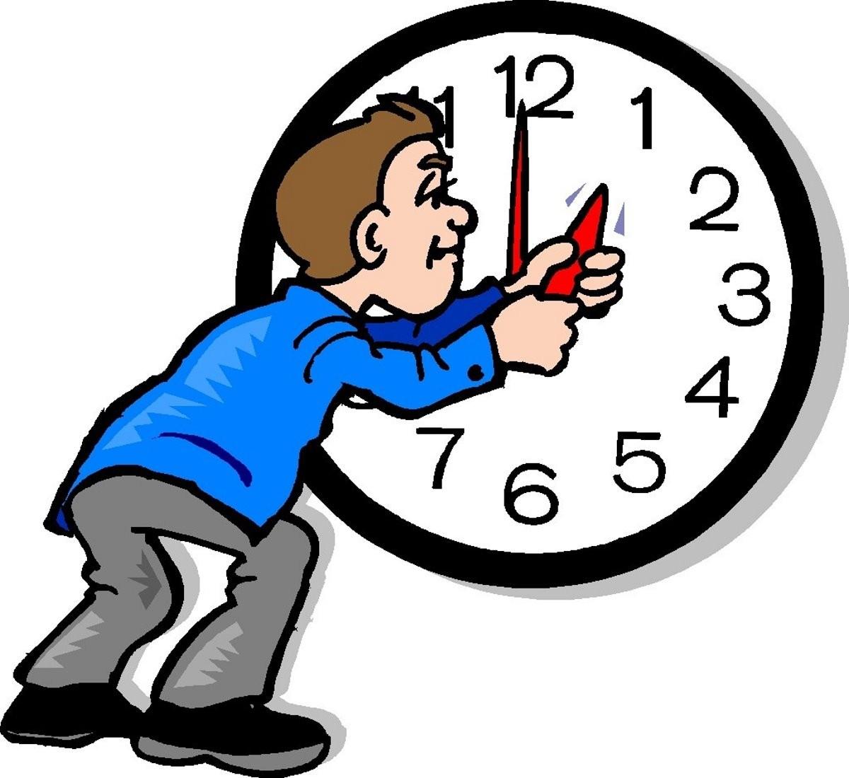 αλλαγή ώρας σε σκίτσο