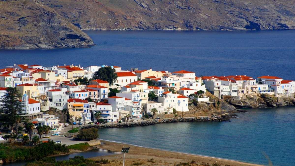 άνδρος χώρα πανοραμική ωραιότερο ελληνικό νησί