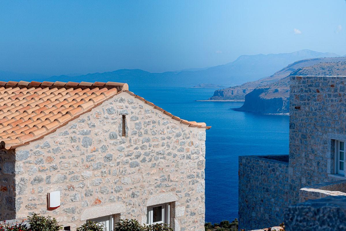 Aria Estate Suites & Spa ξενοδοχείο Αρεόπολη θέα