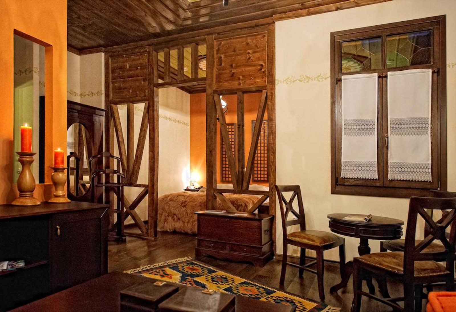 αρχοντικό Ωρολογοπούλου Καστοριά δωμάτιο εσωτερική λήψη