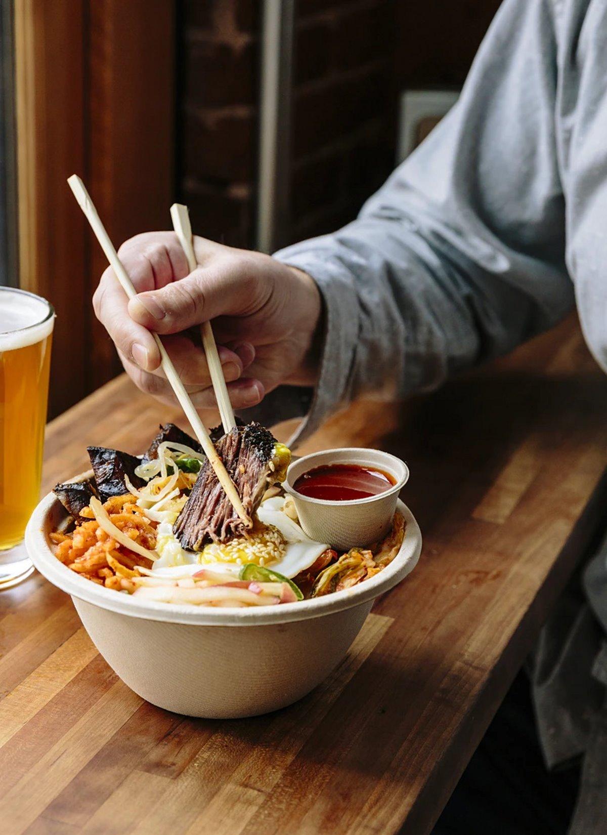 Bibimbap top εμπειρία φαγητού Νότια Κορέα