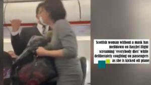 Γυναίκα σε πτήση της easyJet δεν φορούσε μάσκα, έβηχε και φώναζε πάνω από επιβάτες «Όλοι θα πεθάνουν»! (video)