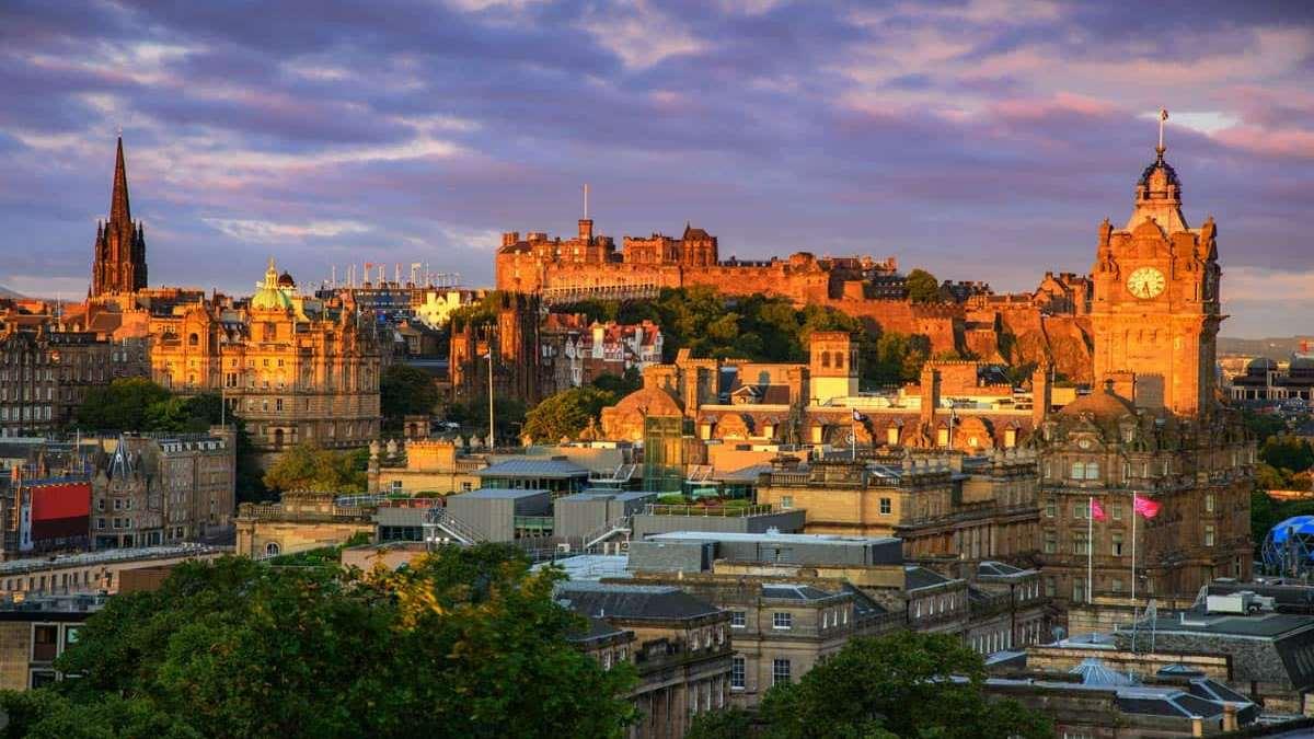 Εδιμβούργο Σκωτία ηλιοβασίλεμα