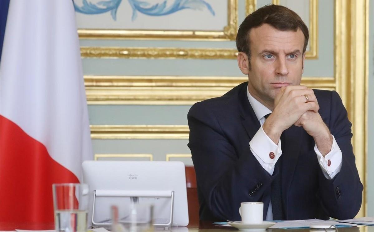 Εμανουέλ Μακρόν, γενικό lockdown Γαλλία