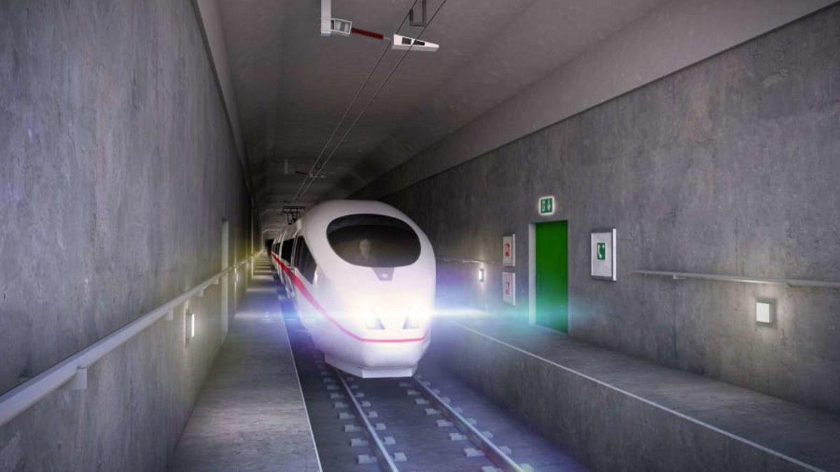 μεγαλύτερη σήραγγα στον κόσμο οδική & σιδηροδρομική τρένο