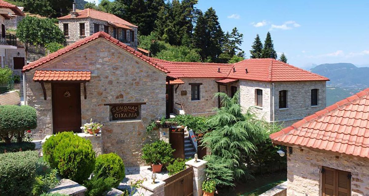 Ο ξενώνας Οιχαλία στο Χωριό Φιδάκια Ευρυτανίας