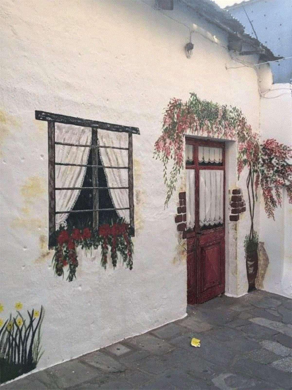 γαλάτιστα χωριό χαλκιδικής ζωγραφική πόρτα