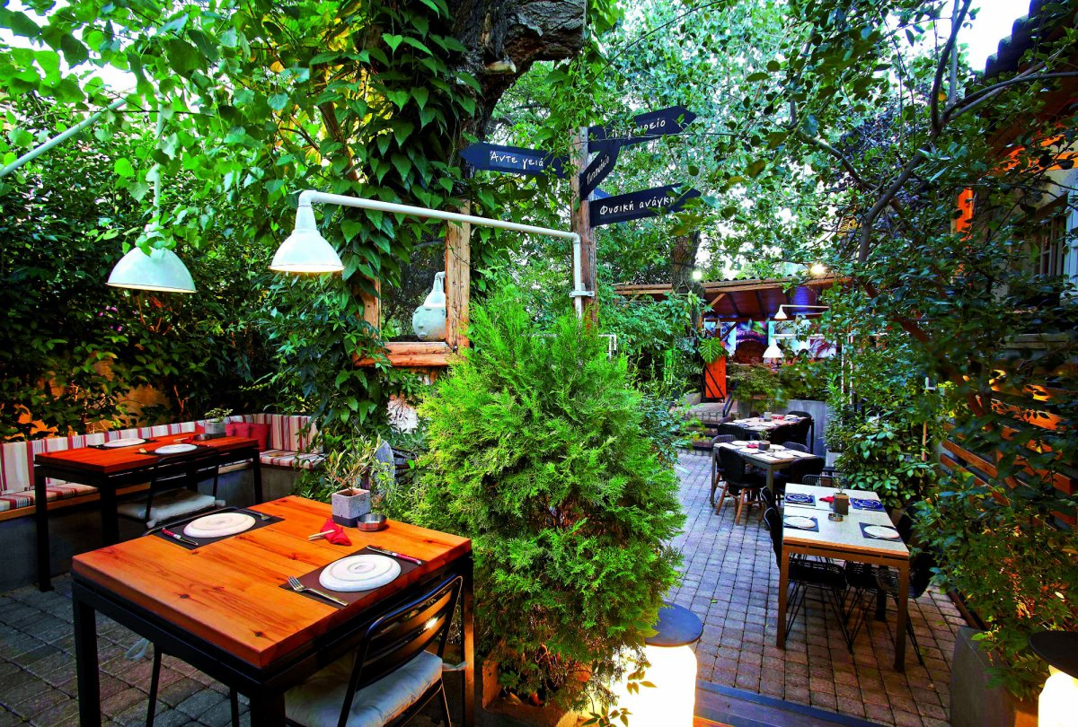 cafes Αθήνα με πράσινο όμορφοι κήποι