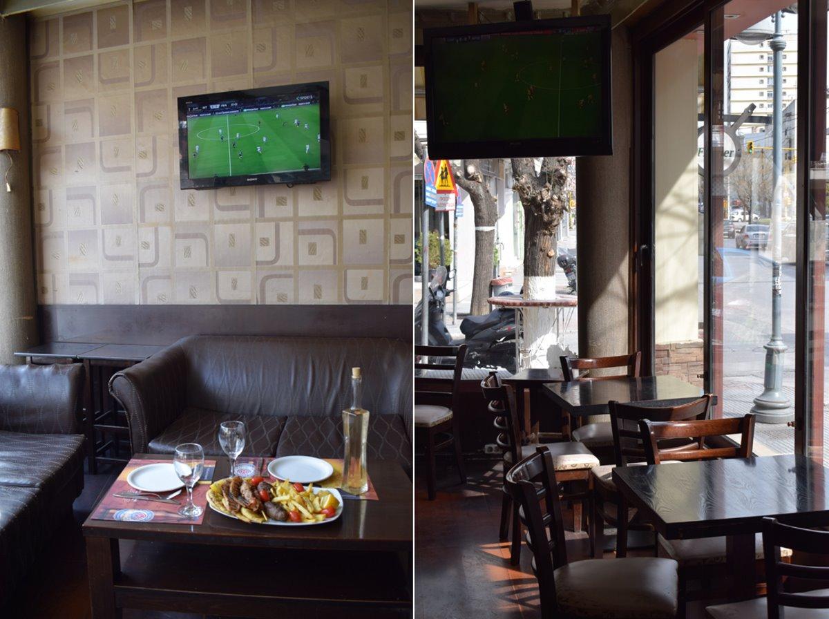 καλύτερα καφενεία Θεσσαλονίκης Πολίτικος Καφενές εσωτερικός χώρος και πιάτα