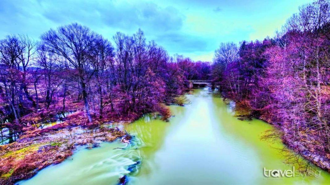 φύση ποτάμι στην καστοριά