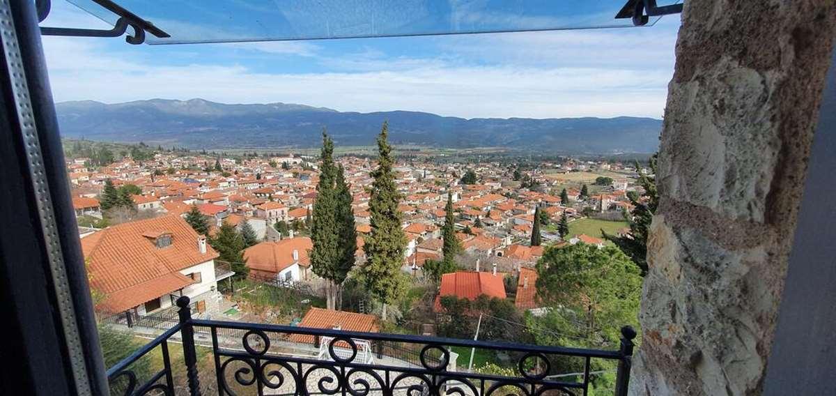 Η θέα από δωμάτιο στο Kyriaki Guesthouse