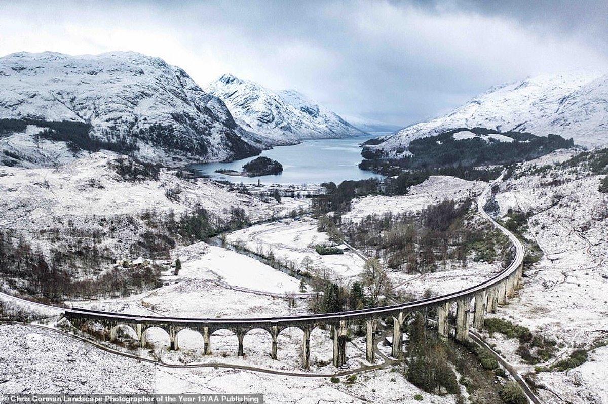φωτογραφία φύση διαγωνισμός χιονισμένο τοπίο Σκωτία