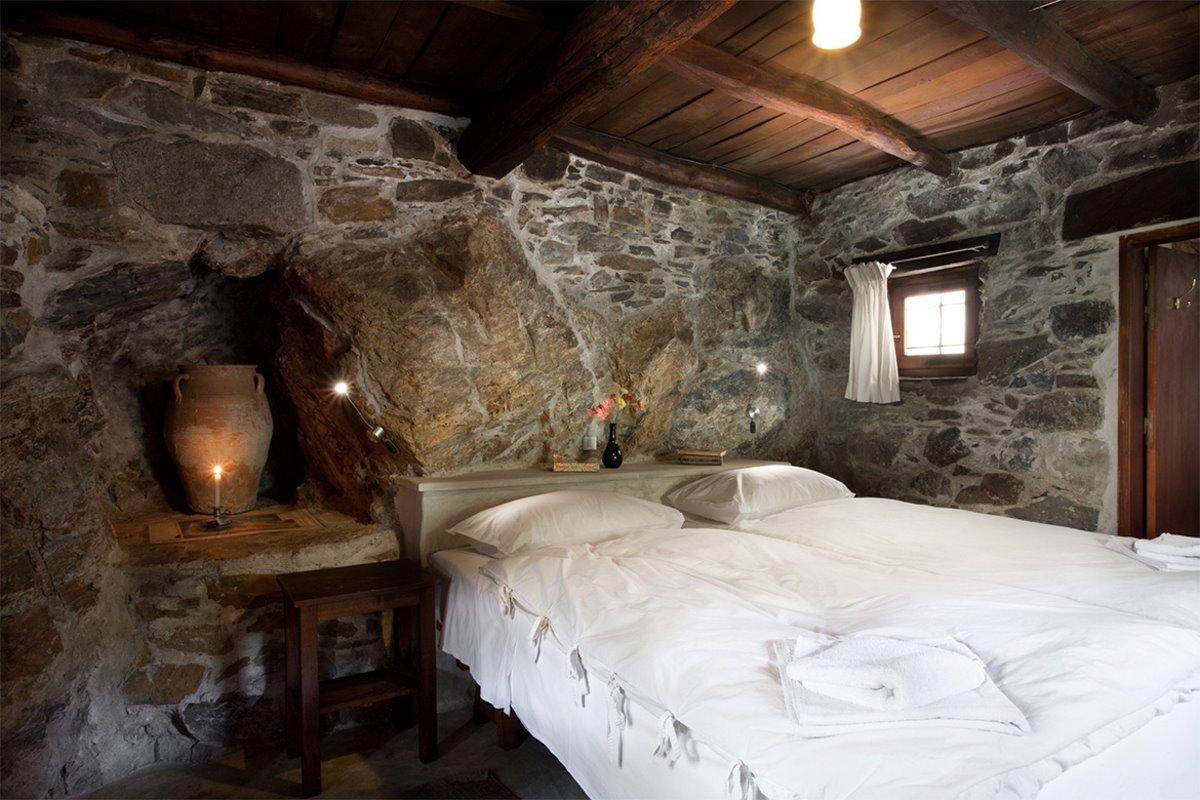 οικοτουριστικό χωριό Μηλιά Χανιά Κρήτη δωμάτιο