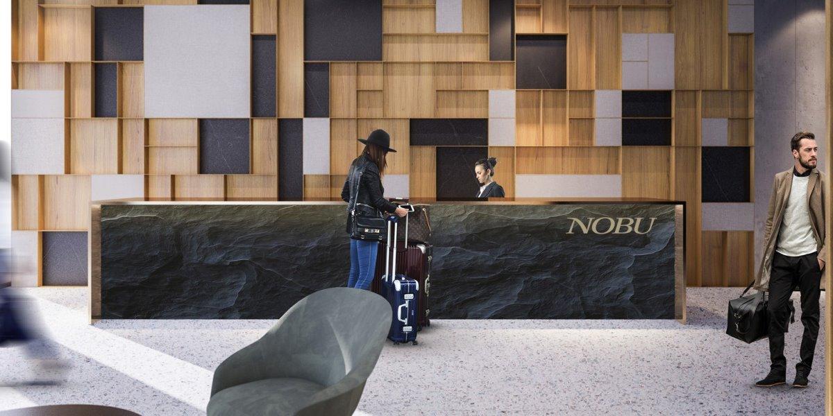 Nobu luxury ξενοδοχείο στη Βαρσοβία του De Niro lobby