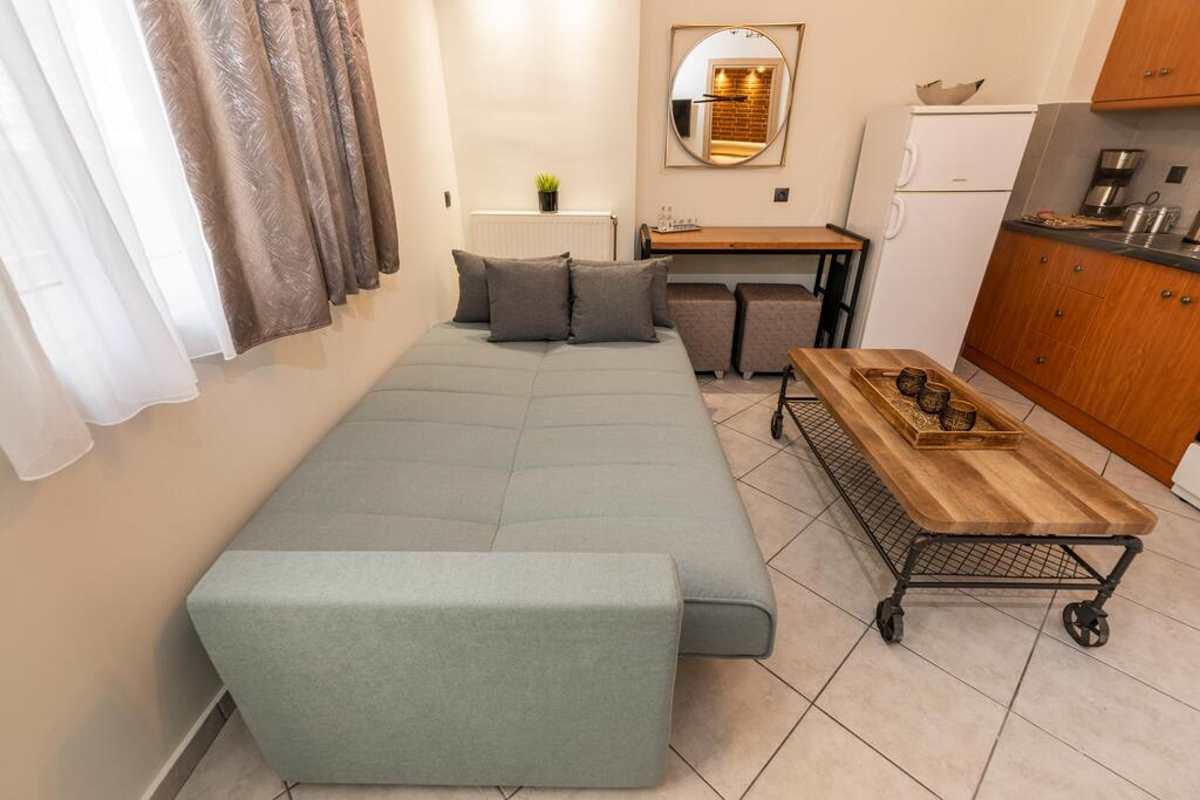oikion hotel σαλόνι καναπές κρεβάτι